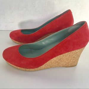 Boden Red Wedges Size 10/40 EUC
